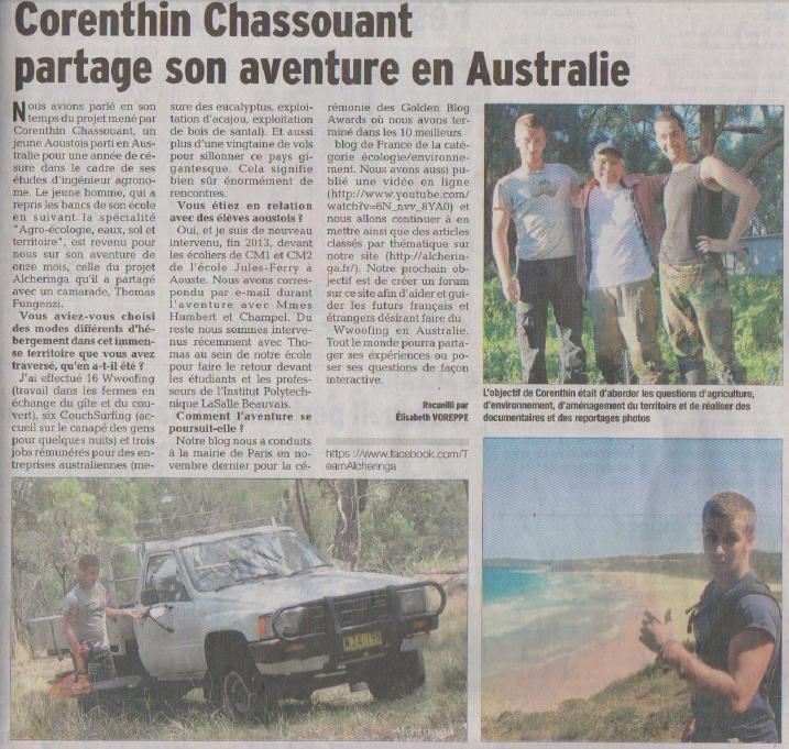 Article Dauphiné Libéré 02.03.14