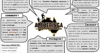 Le projet Alcheringa en Australie