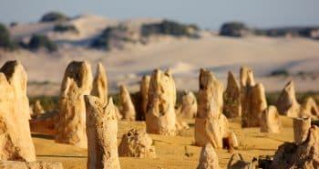 Excursion à Pinnacles desert au nord de Perth