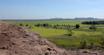 La région tropicale du nord de l'Australie avec le parc National Kakadu