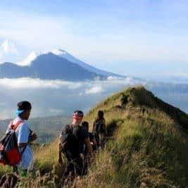Mount Batur l'un des sommets culminants de Bali